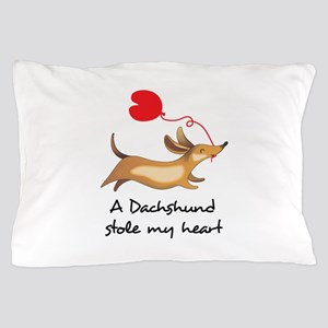 DACHSHUND STOLE MY HEART Pillow Case